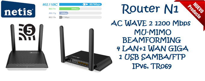 Netis N1 router ac wave 2